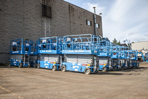Genie Scissor Lifts Ready for Delivery