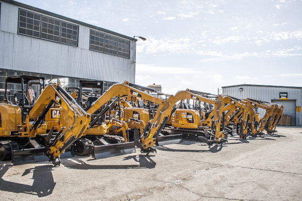 Mini Excavators Ready for Delivery