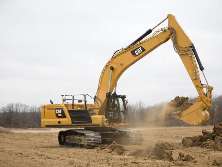 The Cat 336 excavator moves loads of material quickly and efficiently.