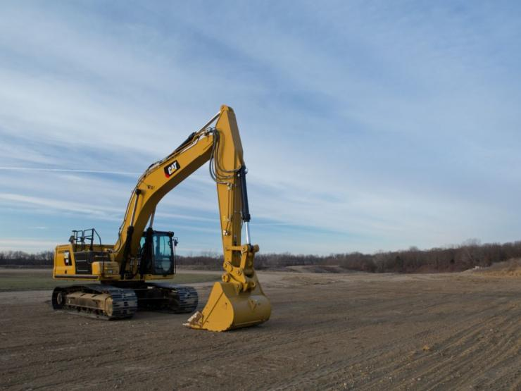 The Cat 336 excavator is a terrific truck loader.