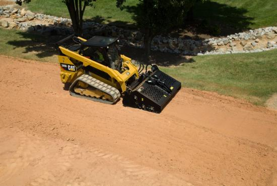 Cat® Landscape Rake Making a Pass on the Jobsite
