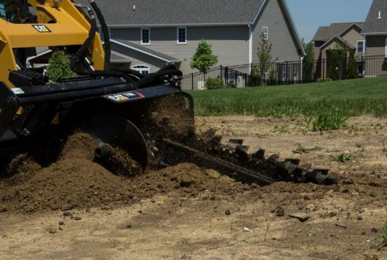 Cat® T9B Trencher in Landscaping Application