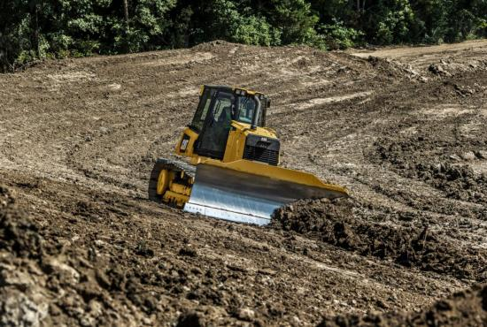 D6K2 Dozer Pushing Wind Rows