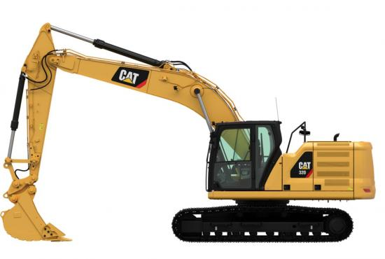 320 Medium Hydraulic Excavator dumping dirt